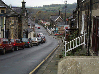A view of the main street in Grosmont