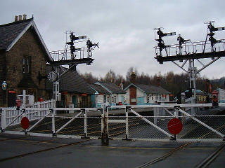 An image of the railway crossing in Grosmont
